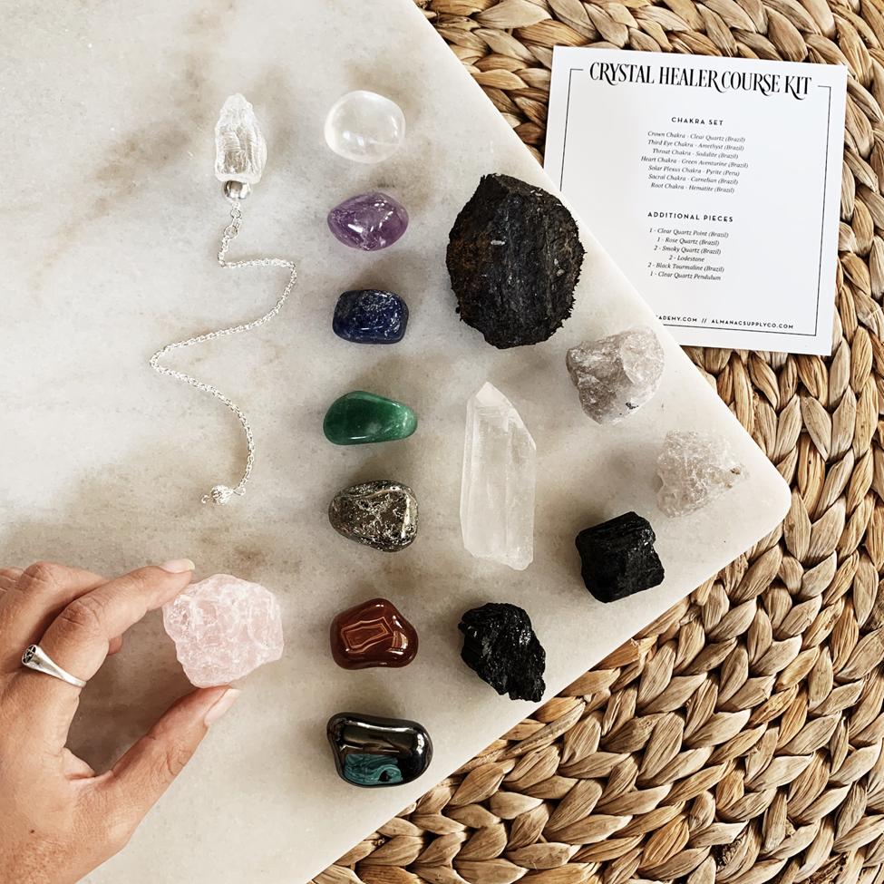 kit de fournitures de cours de guérisseur de cristal certifié