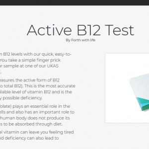 Test de vitamine B12 active à la maison