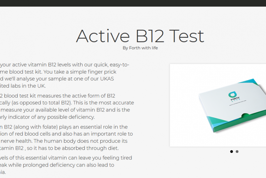 Test de vitamine B12 active à la maison