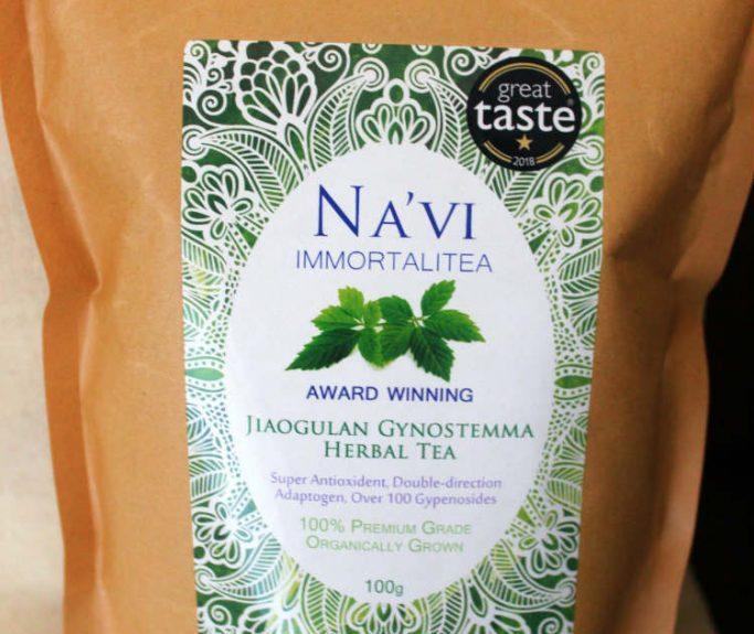 Revue de thé en vrac biologique de Na'vi Organics Jiaogulan Gynostemma Pentaphyllum