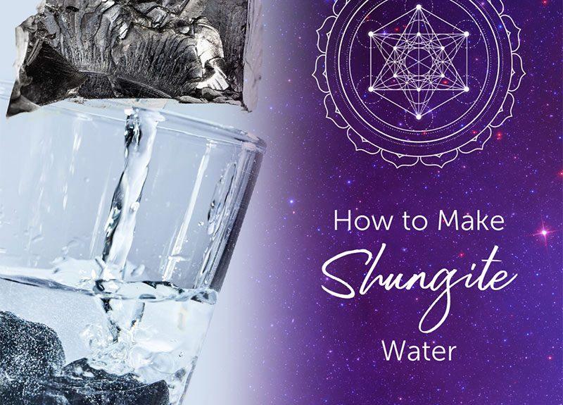 Comment faire de l'eau de shungite