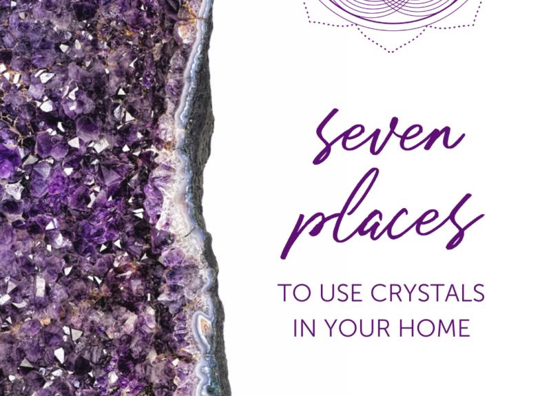 7 endroits pour utiliser des cristaux dans votre maison
