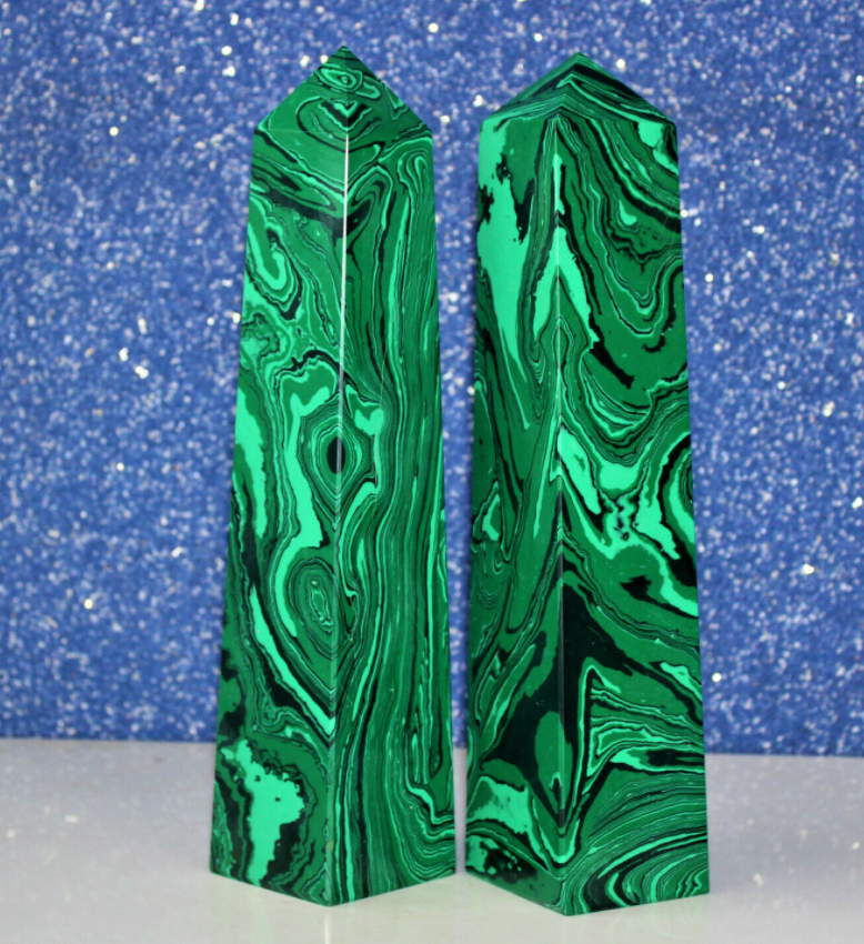 cristal faux malachite