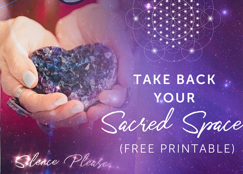 Reprenez votre espace sacré